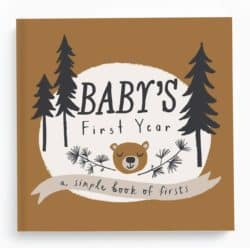 gifts for new dads - Baby Memory Book Baby Journal and Photo Album