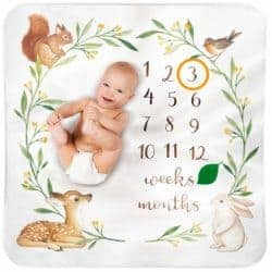 gifts for new dads - Bubzi Co Baby Monthly Milestone Blanket