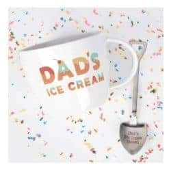 gifts for new dads - Dad's Ice Cream Bowl and Engraved Spoon Dad's Ice Cream Shovel