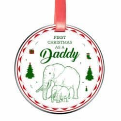 Elegant Chef First Christmas as a Daddy Ornament for New Dads