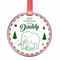 gifts for new dads - Elegant Chef First Christmas as a Daddy Ornament for New Dads