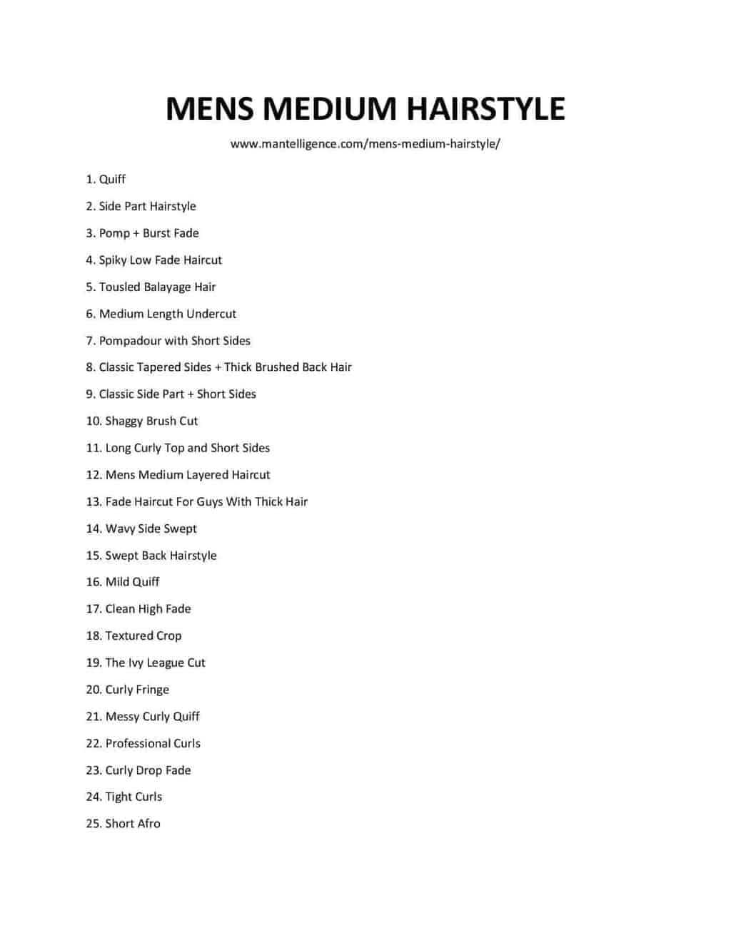 list of MENS MEDIUM HAIRSTYLE (1)
