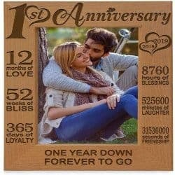 One Year Anniversary Gifts -1. Our 1st Anniversary Picture Frame