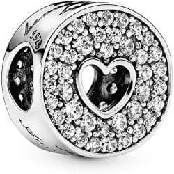 One Year Anniversary Gifts - 12. Pandora Jewelry Heart Anniversary Charm