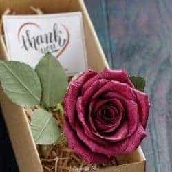 One Year Anniversary Gifts - 2. Handmade Paper Rose