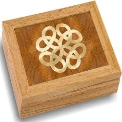 One Year Anniversary Gifts - 25. Wood Art Celtic Box