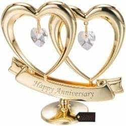 One Year Anniversary Gifts - 3. Double Heart Table Top Ornament