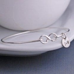 One Year Anniversary Gifts - 34. Infinity Bangle Bracelet