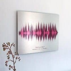 One Year Anniversary Gifts - 36. Wedding Song voice print