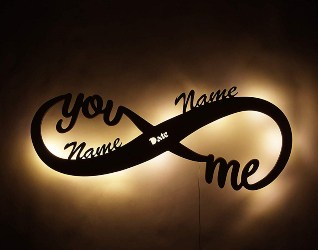58. Infinity I Love You Decor LED Night