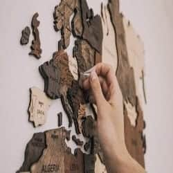 59. Wooden Map of the World