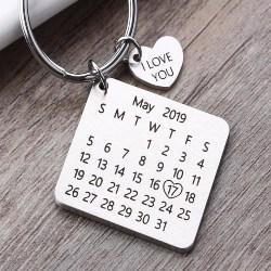 63. Personalized Calendar keychain