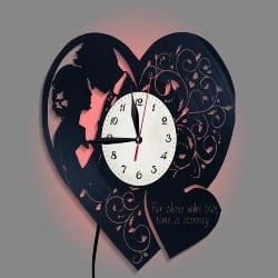 68. Wall Clock Bedroom Light