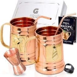 One Year Anniversary Gifts - 8. Moscow Mule Copper Mugs