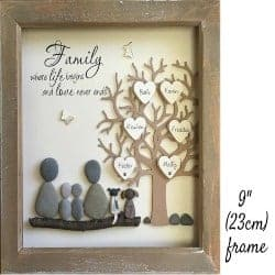 unique gifts for dad-Pebble Art Family Tree picture (1)