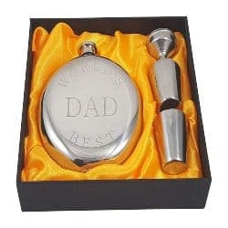 unique gifts for dad-World's Best Dad Flask Gift Set (1)