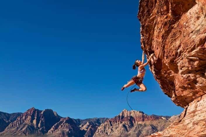 Hobbies for women-rock climbing