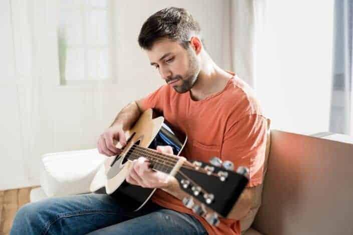creative hobbies-playing the guitar