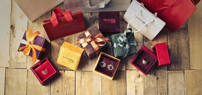 Variety of gift boxes.