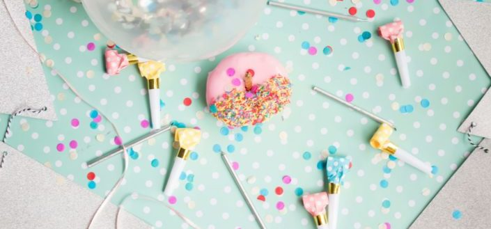 Pastel and cute birthday decorations
