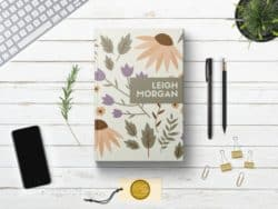 birthday gifts ideas - Personalized Floral Writing Journal