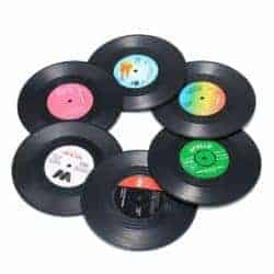 birthday gifts ideas - Record Coasters for Drinks