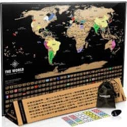 birthday gifts ideas - Scratch Off Map of The World