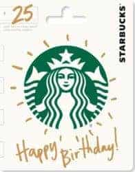 birthday gifts ideas - Starbucks Gift Card
