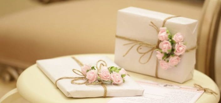 Elegantly wrapped gifts