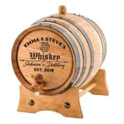 christmas gifts for brother - Personalized - Custom Engraved American Premium Oak Aging Barrel