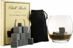 cool gifts for guys - Whiskey Chilling Rocks
