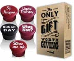 gifts for wine lover - 5 Wine Stoppers