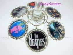 gifts for wine lover - Beatles inspired Wine Charms