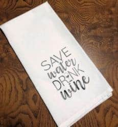 gifts for wine lover - Save water drink wine
