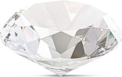 Crystal Diamond Shaped Glass Paper Weight.