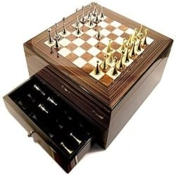 Best Retirement Gift Ideas for Men - 75-cigar Humidor with Chess Board Top (1)