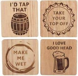 Best Beer Gifts - Funny beer coaster set