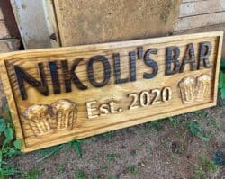 Best beer gifts - custom bar sign