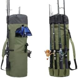 Best Retirement Gift Ideas for Men - Durable Canvas Fishing Rod & Reel Organizer Bag (1)