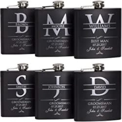Best Groomsmen Gift Ideas - Customized Flask