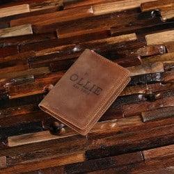 Best Groomsmen Gift Ideas - Leather Passport Wallet (1)