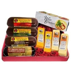 Best Groomsmen Gift Ideas - Mancave Ultimate Men's Cheese & Sausage Gift Basket (1)