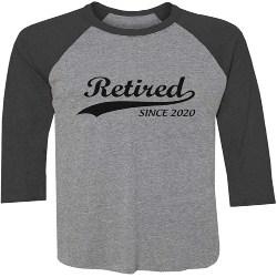 Best Retirement Gift Ideas for Men - Retired Since 2020 Baseball Jersey Shirt (1)