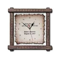 Best Unique Gifts For Men - Handmade Wood framed Leather Clock