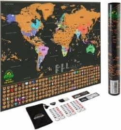 Best Unique Gifts For Men - Scratch Off Map of The World