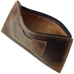 Best Retirement Gift Ideas for Men - Leather Zippered Handbag (1)