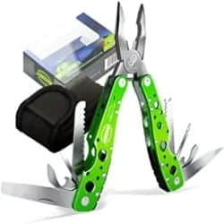 Cheap DIY Gift for Men - 15 Functions in 1 Multitool Portable Folding Pocket Knife Pliers Screwdriver Cutter Stainless Steel Survival Tool