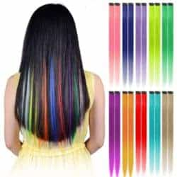 Cheap Gift Ideas - Colored Clip in Hair Extensions