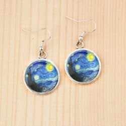 Cheap Gift Ideas - Starry night Vincent Van Gogh painting earrings