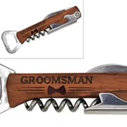 Cheap Groomsmen Gift ideas - My Personal Memories Corkscrew and Multi Tool